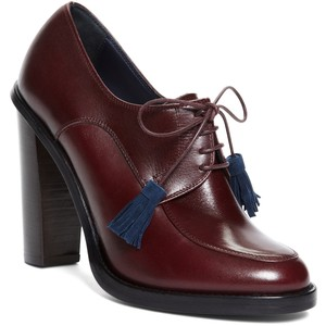 Think of this with a more dressy look. These would balance a tapered leg slack well.