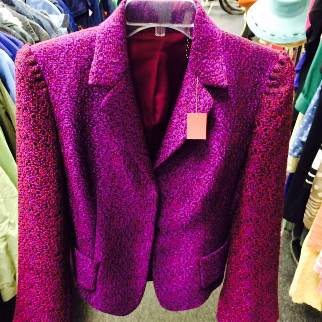 This blazer was such a rich color, so glad one of our fashionistas scooped it up!