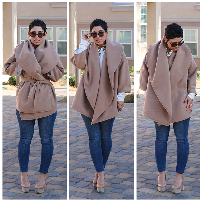 Mimi, a fabulous seamstress, MADE this oversized camel coat!