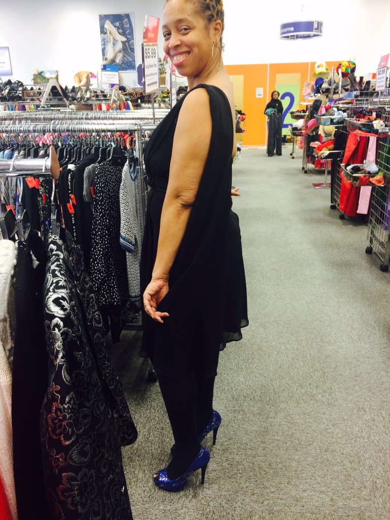 black dress at Dale City Goodwill