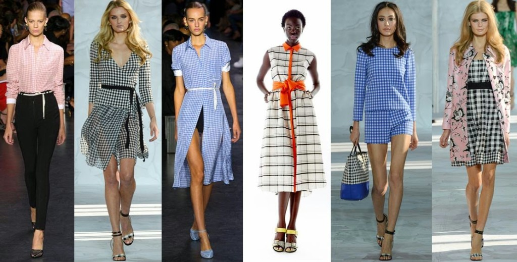 Collage of various gingham 2015 looks. Image by Small 4 Style blog.