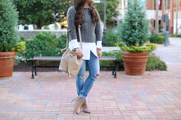 I love this look of the bag paired with a boyfriend jean. Photo taken from Haute off the Rack.