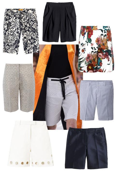 Here is Elle's collage of trendy Bermudas...