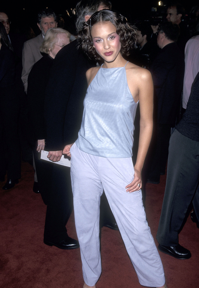 Jessica Alba circa 1999 in a high neck 90's style!