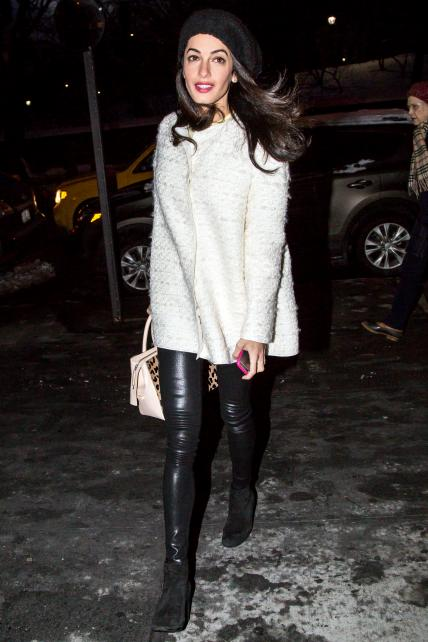Leather legging love! Image via InStyle.com
