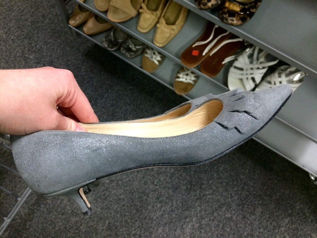 I spotted these Butter kitten heels at Goodwill. They were $14 but retailed for over $125!