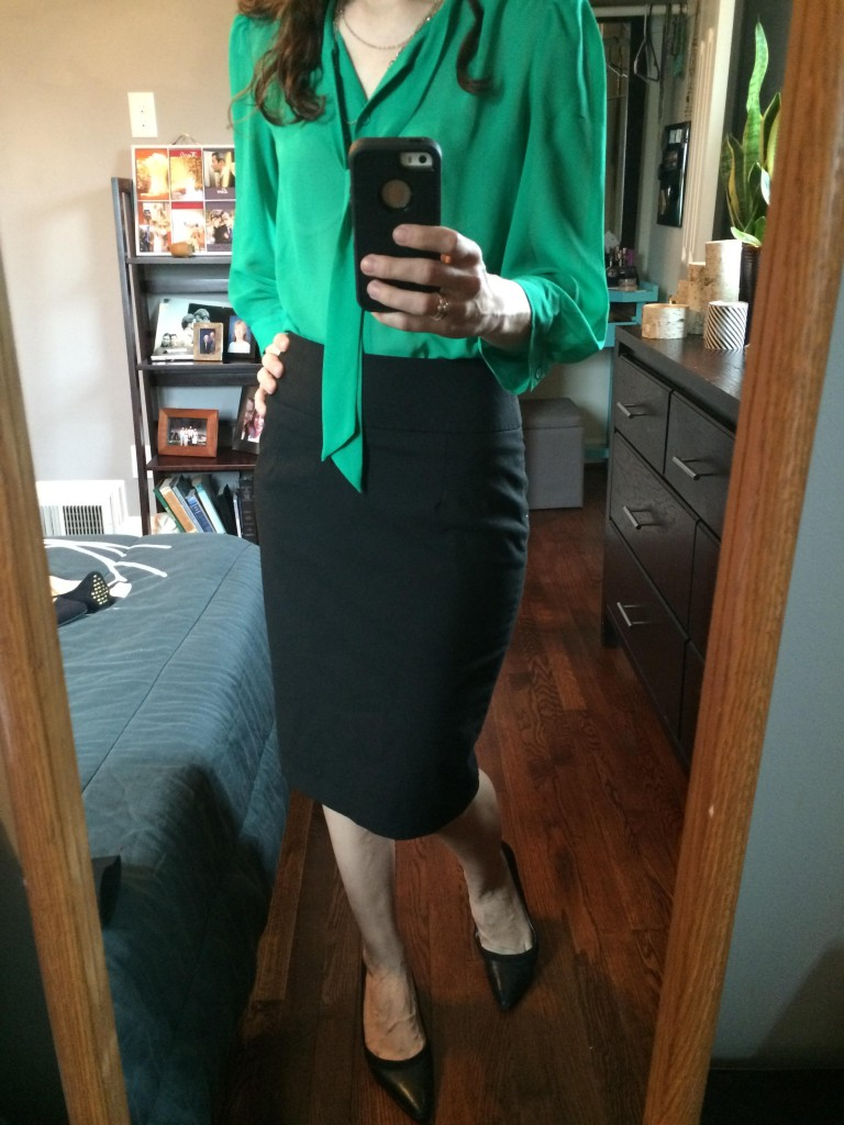 """Pinterest helps me elevate my favorite """"safe"""" pieces in my wardrobe - like this black pencil skirt!"""