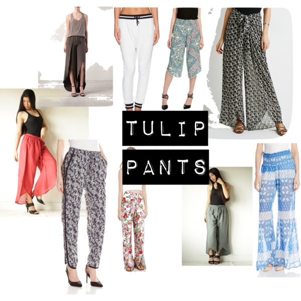My collage of Tulip Pants from Polyvore!