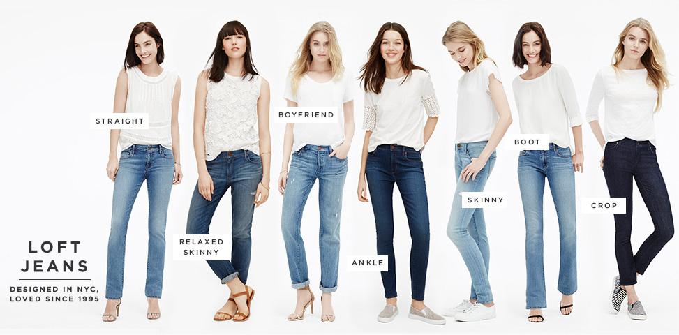 Loft jean styles! Image sourced from Loft.