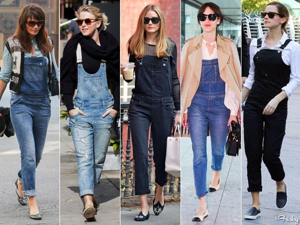 celebs wearing overalls