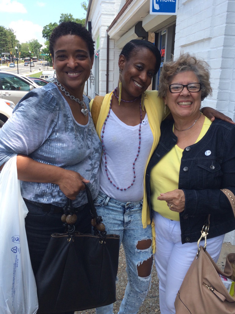 Happy shoppers at the Columbia Pike store!