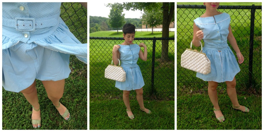Blue bloomer and dress