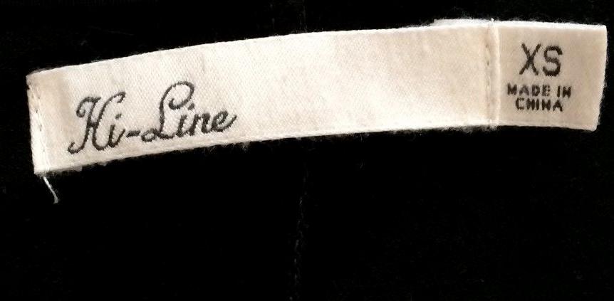 Hi Line Clothing Tag