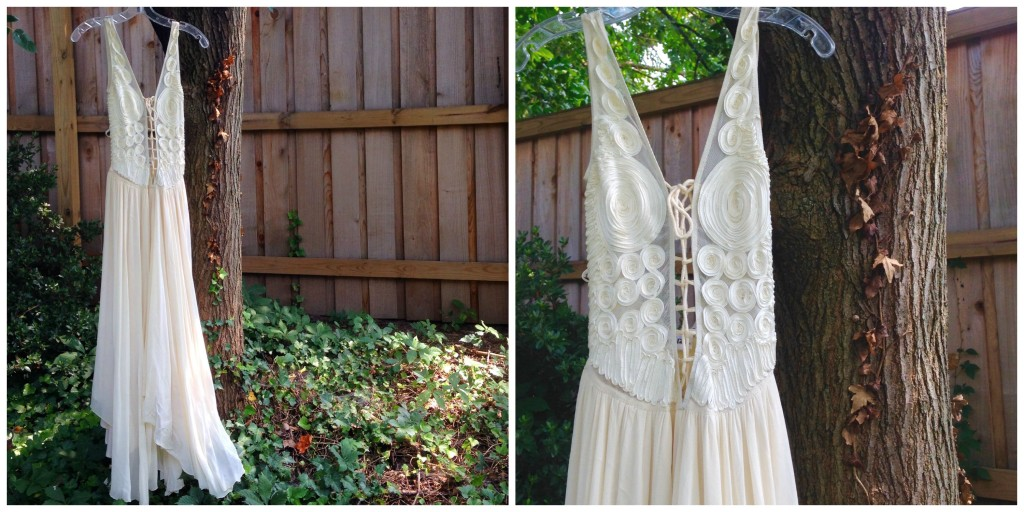 One of my fav. finds, a vintage maxi dress!