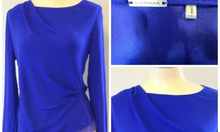 Sophisticated Cobalt Blue <br/>Elie Tahari Blouse
