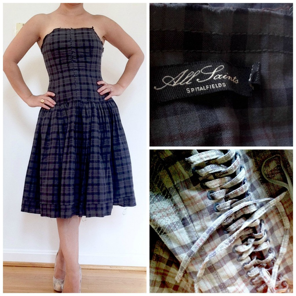plaid corset dress by All Saints