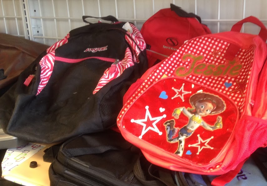 backpacks found at Goodwill