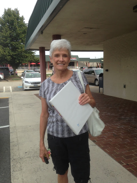 Marge, this lovely Goodwill shopper, scored some binders on her last BTS shopping trip!