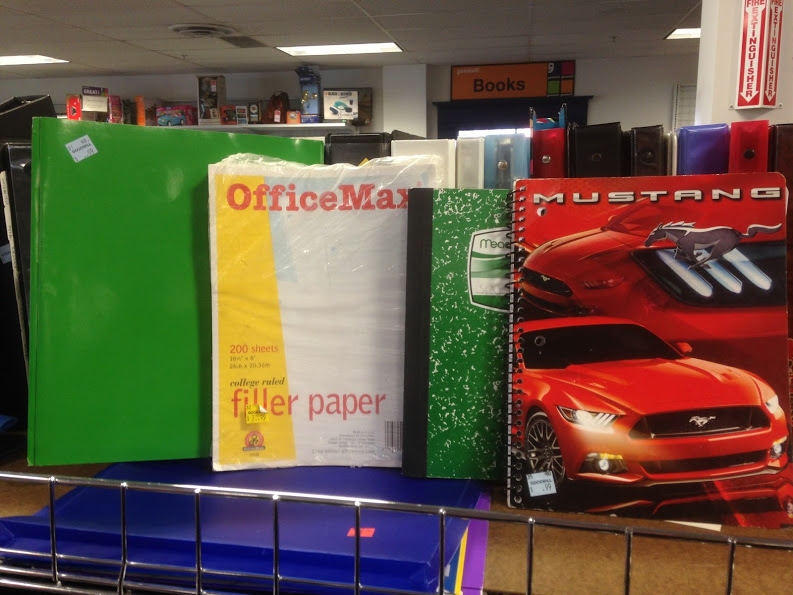 folders, paper, notebooks found at Goodwill