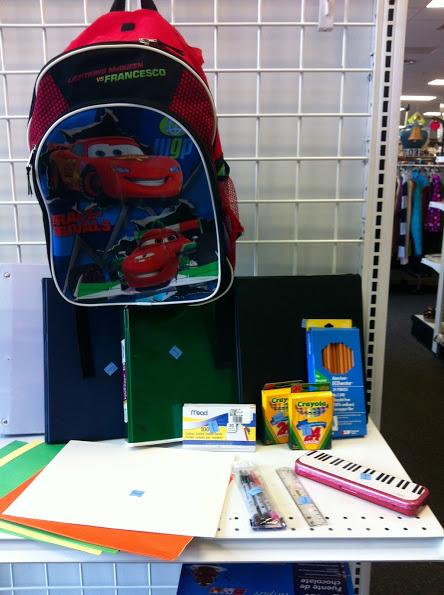 school supplies at Goodwill