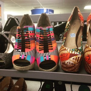 colorful goodwill shoes
