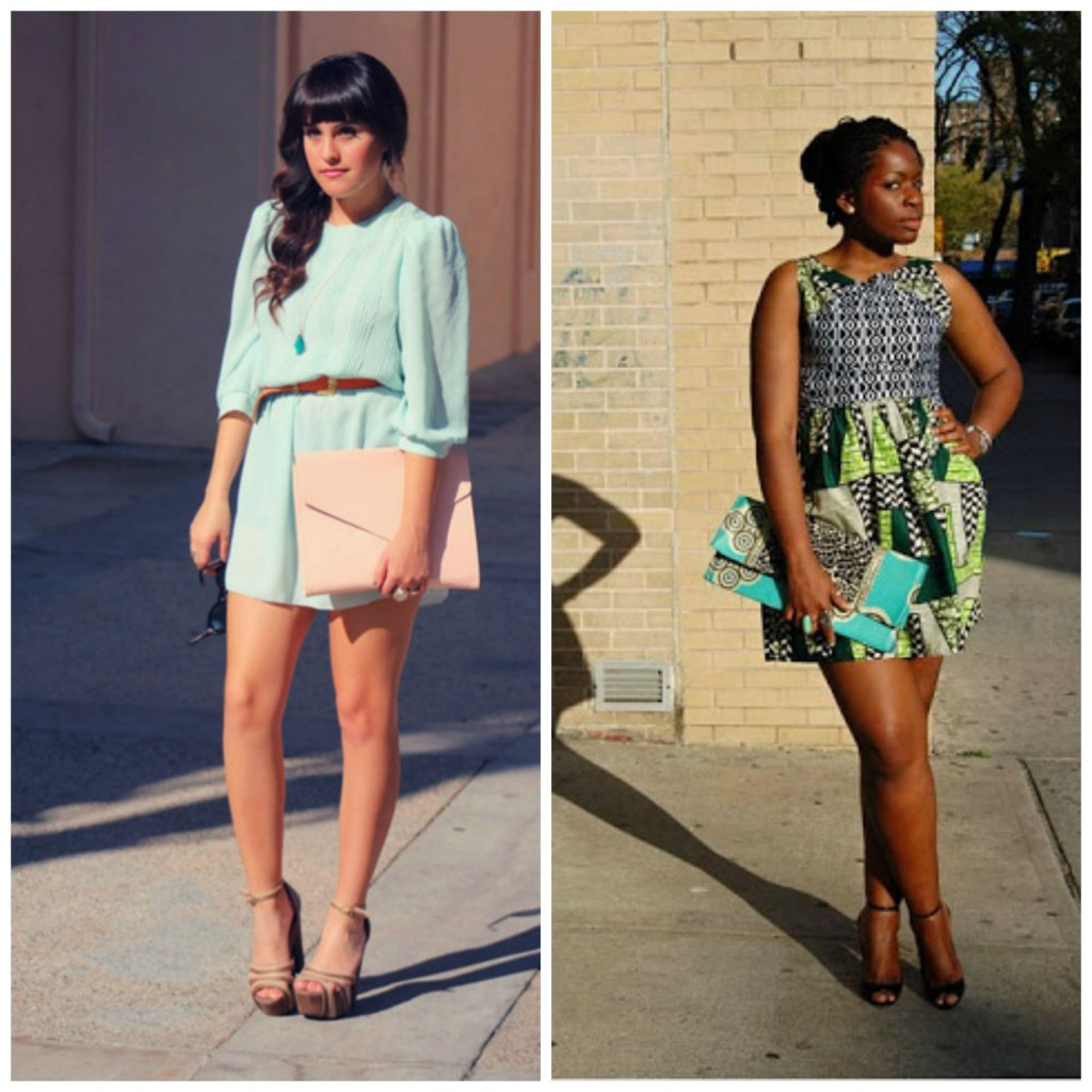 bloggers wearing envelope purses
