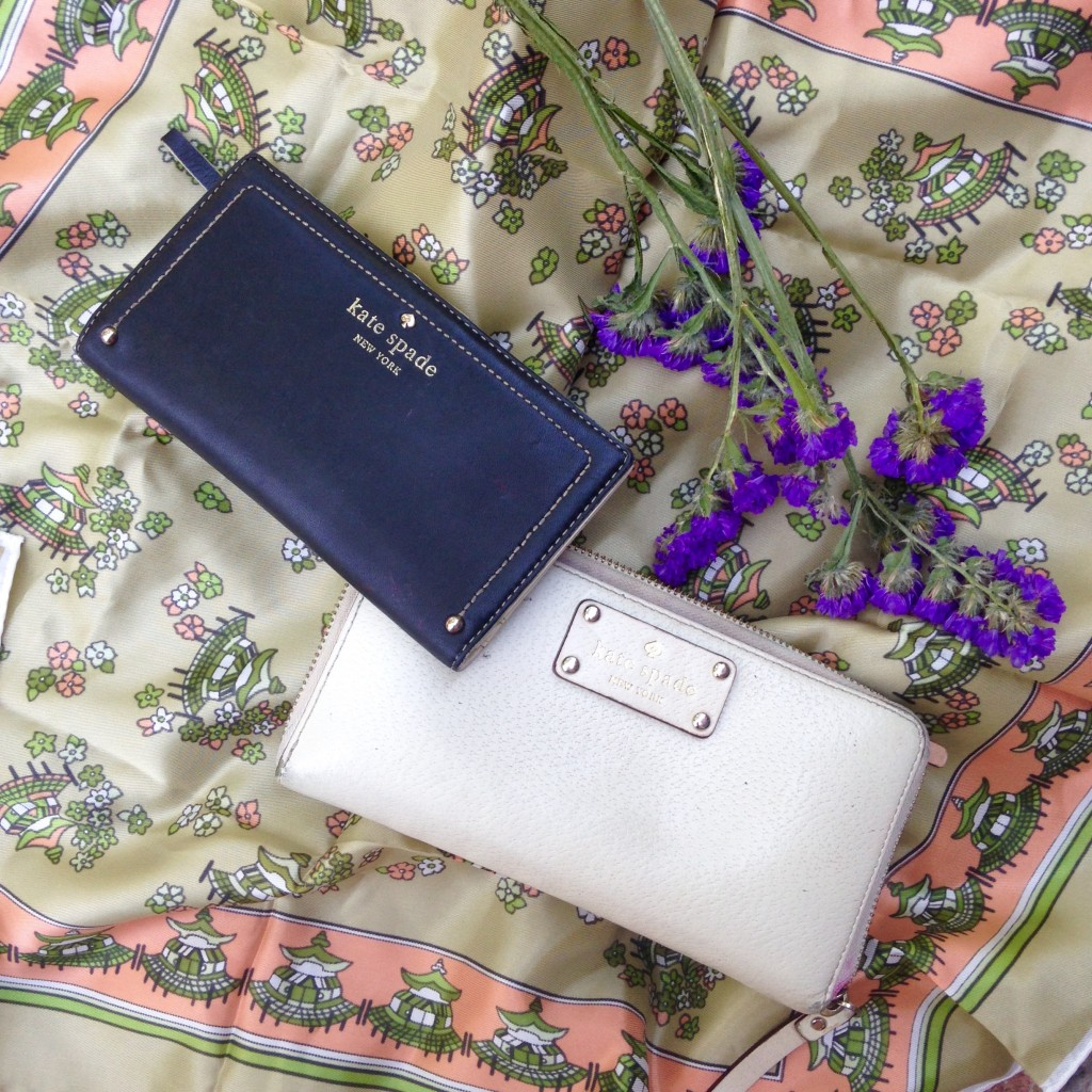 Kate Spade wallets from Goodwill