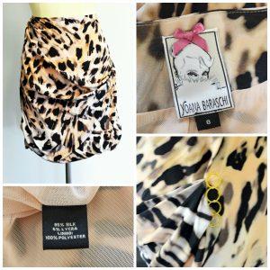 Collage of Animal Print and Gold Rings Designer Yoana Baraschi Skirt