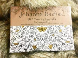Johanna Basford coloring 2017 calendar