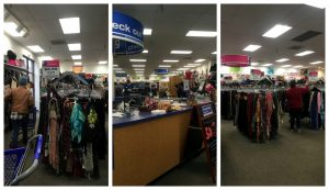 Picture collage of the front of the Gaithersburg Goodwill Store