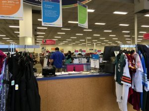 The front check out of the Goodwill of Greater Washington Dale City retail location