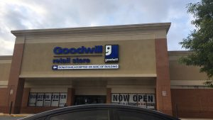 A picture of the Clinton, MD Goodwill Retail Store storefront