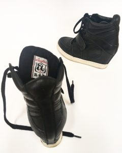 A picture of black Ash wedge sneakers