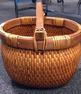 A picture of a wicker basket found at the Alexandria Goodwill of Greater Washington retail store