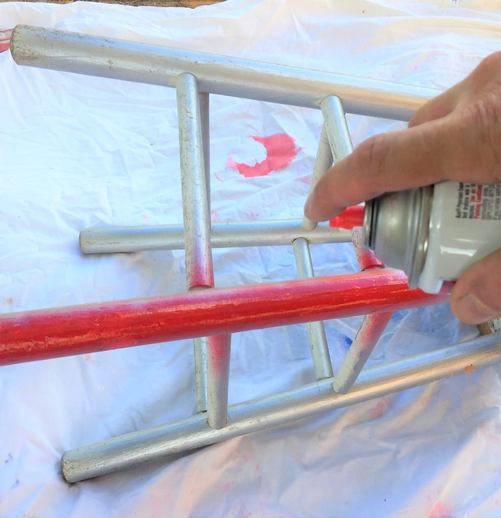 blog stool upcycle painting