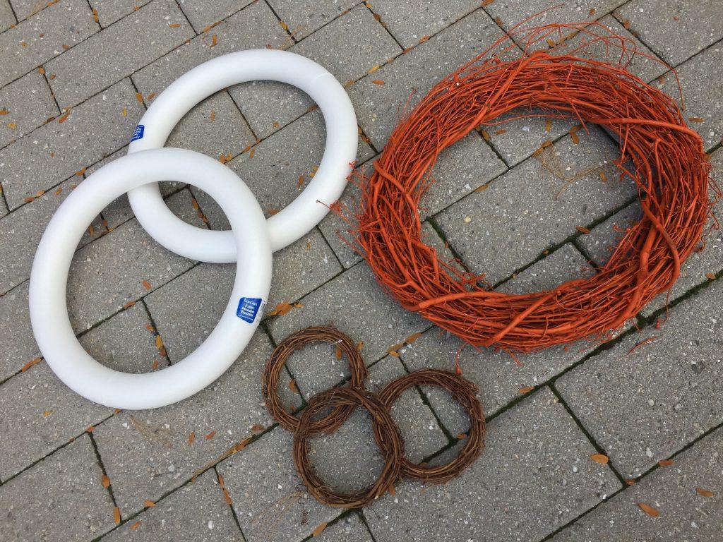 Goodwill DIY Blog Sweater Wreaths foam, vine before