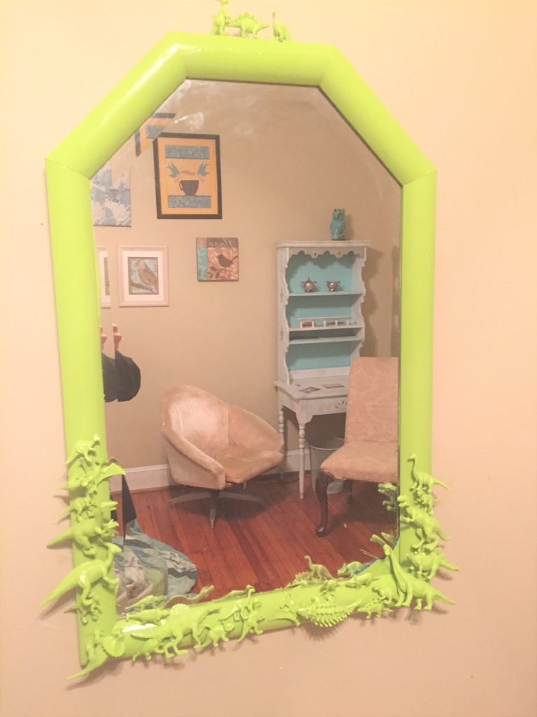 Goodwill mirrors dinosaurs done