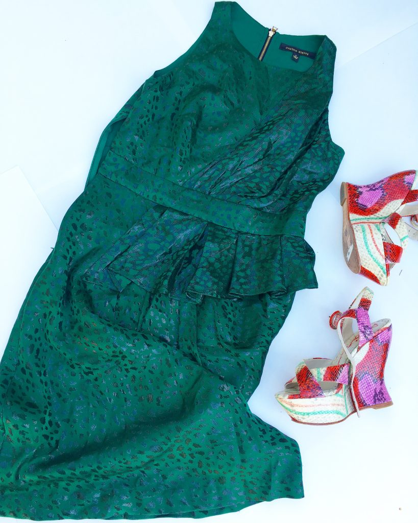 cynthia steffe emerald green dress