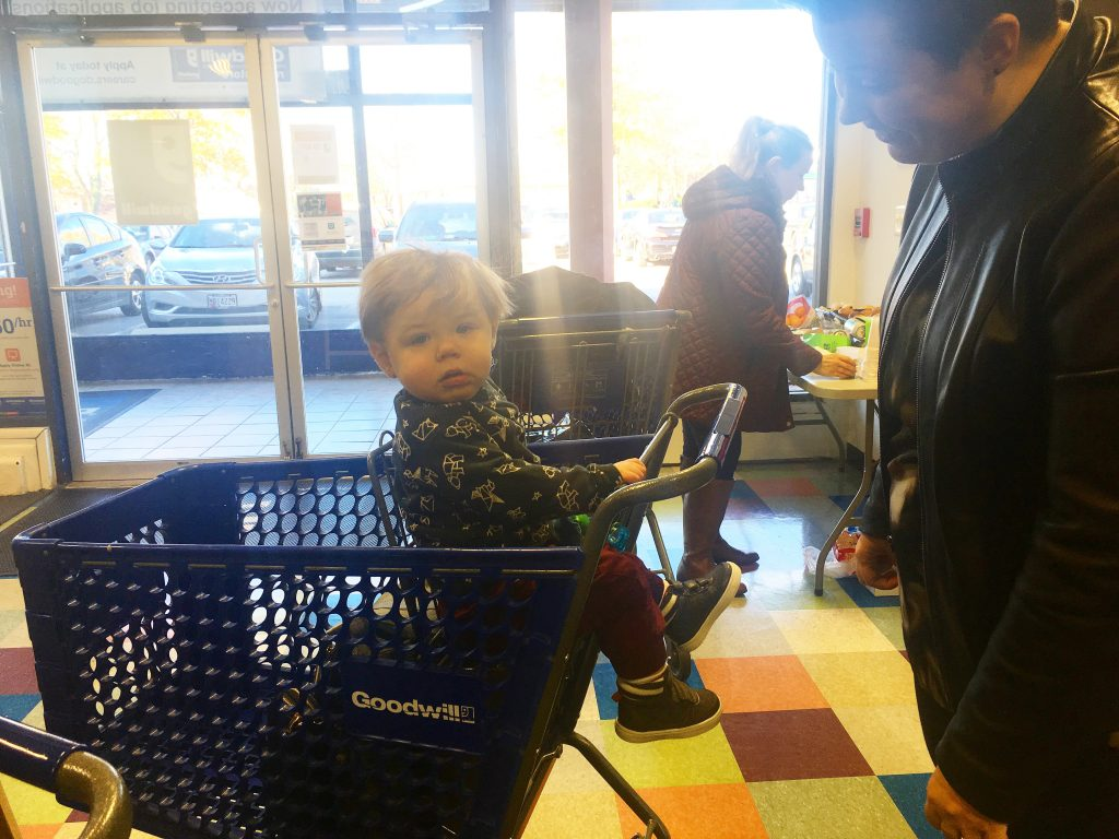 Goodwill shopper's baby