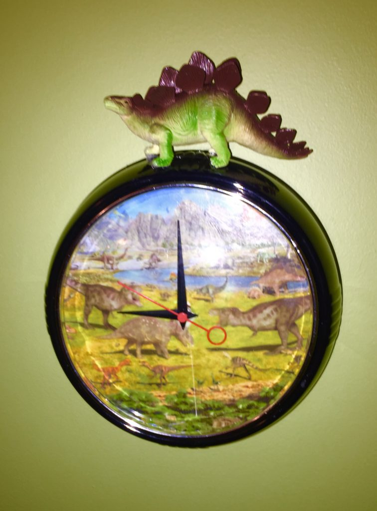 Goodwill clocks dino after