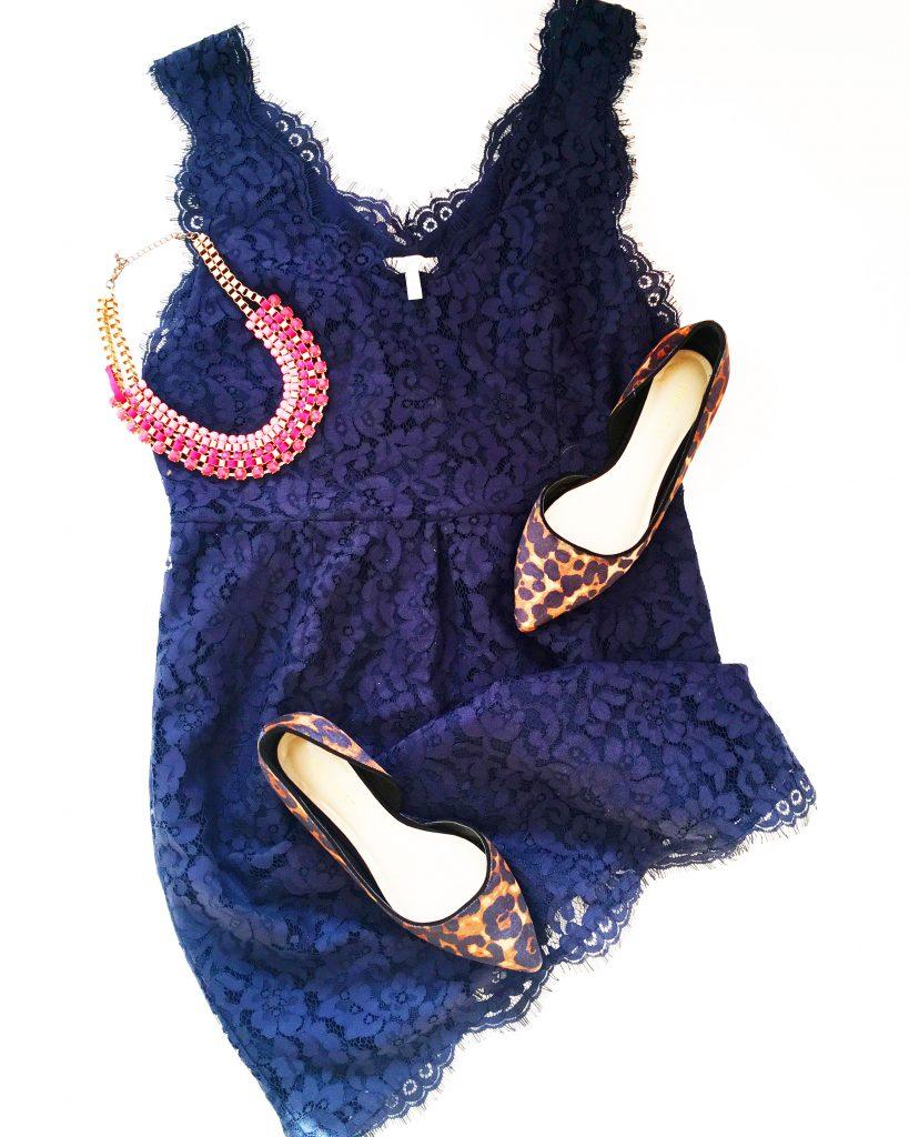 Blue lace dress by Joie