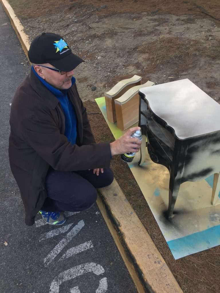 Goodwill blog side table Tim painting