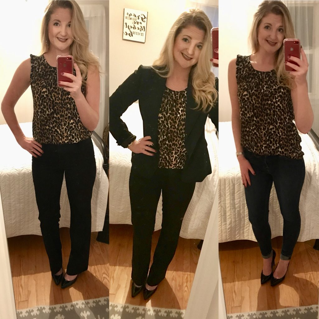 sleevless tops from Goodwill