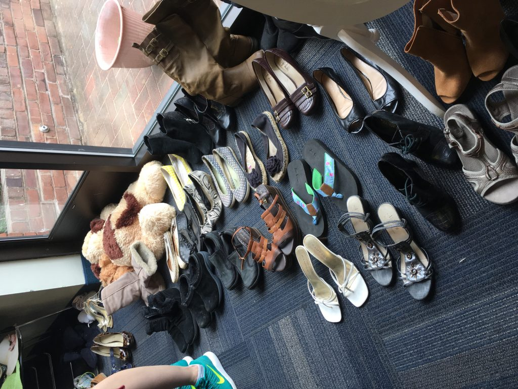 shoes at clothing swap
