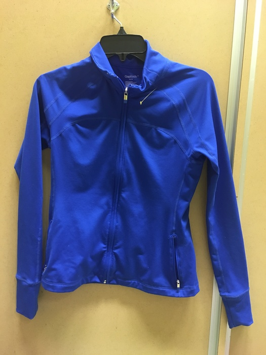 electric blue GapBody running jacket