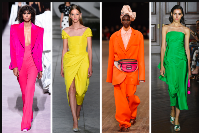 bright colors trending on the runway during Fashion Week