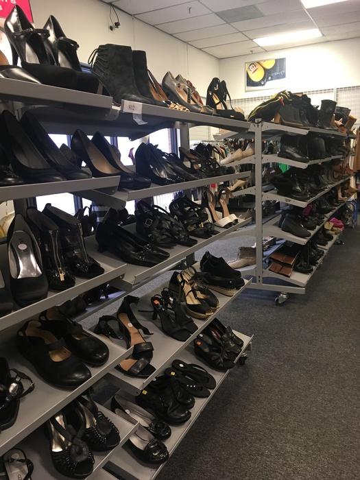 Goodwill Manassas women's shoe section