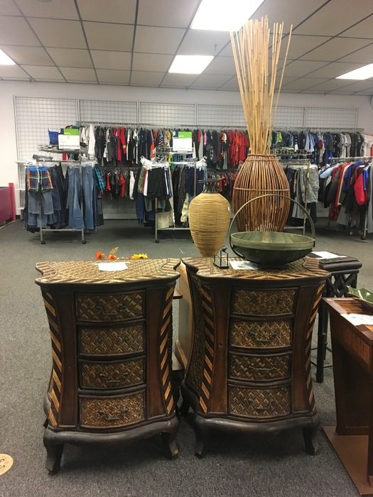 matching side tables found at Goodwill Manassas