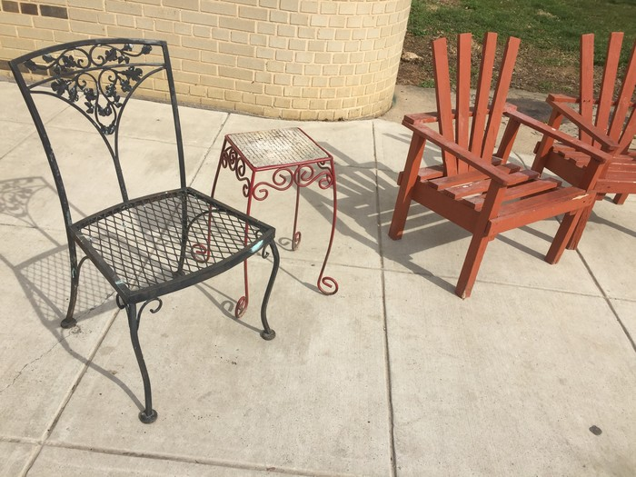 outdoor furniture found at Goodwill
