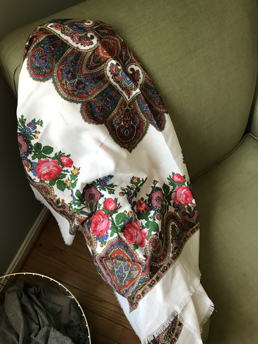 paisley print floral scarf from Goodwill